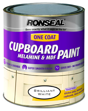 Ronseal Cupboard One Coat Mel & MDF Paint White 750ml